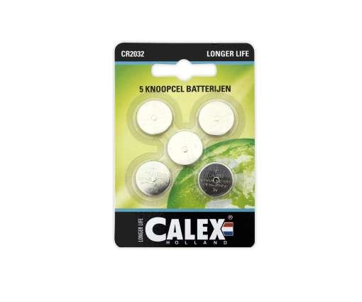 Calex batterijen Knoopcel Lithium CR2032 3V, kaart