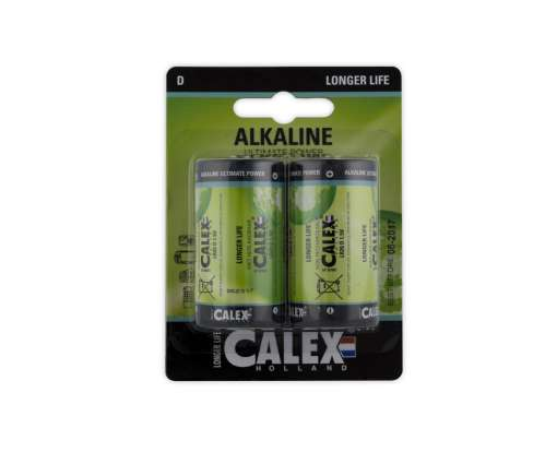 Calex battterijen Alkaline grote staaf LR20/D 1,5V