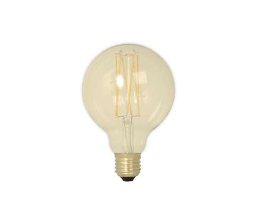 Calex LED Filament Globelamp 4W E27 GLB95, Goud 2100K Dimbaar