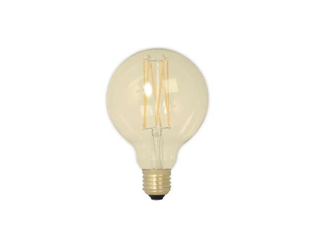 Calex led filament globelamp 4w e27 glb95 goud 2100k dimbaar