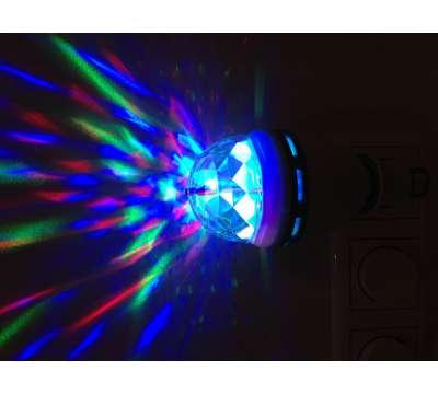 Led Disco Lamp 3 watt met stopcontact aansluiting