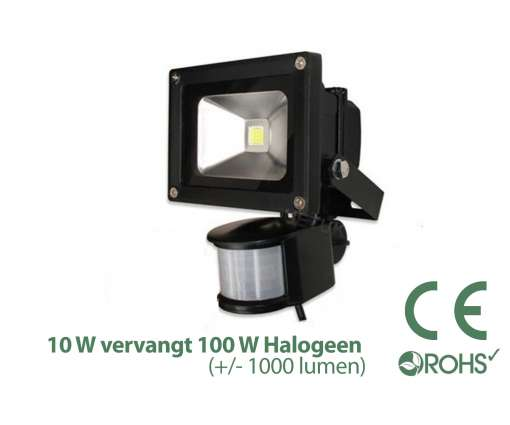 Led Bouwlamp met bewegingssensor 10 watt