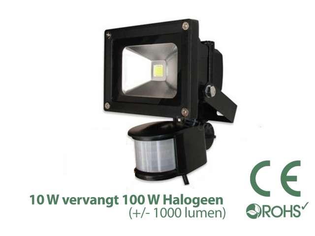 Led Bouwlamp met bewegingssensor 10 watt - Light by leds