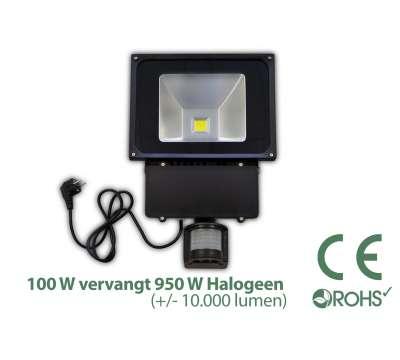 Led Bouwlamp 100 watt met beweginssensor