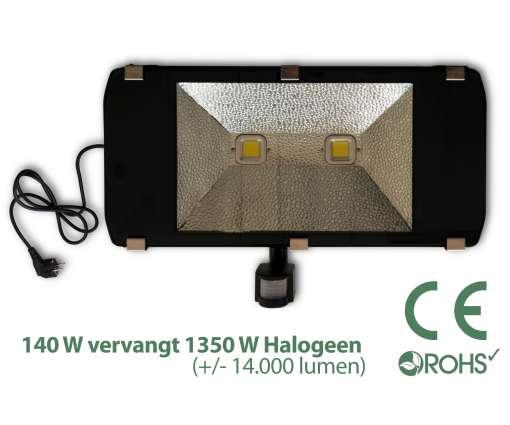 Led Bouwlamp 140 watt met beweginssensor