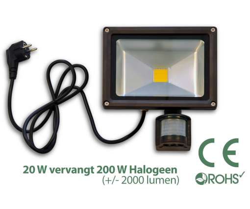 Led Bouwlamp met bewegingssensor 20 watt
