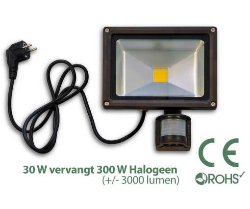 Led Bouwlamp met bewegingssensor 30 watt