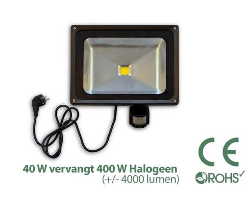 Led Bouwlamp met bewegingssensor 40 watt