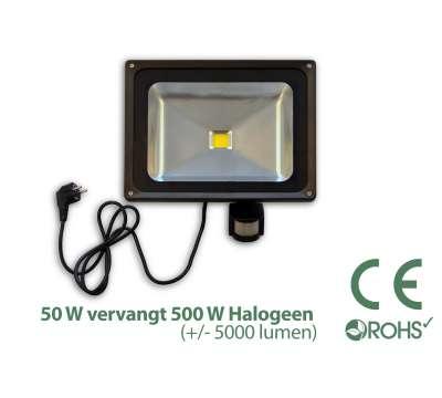 Led Bouwlamp met bewegingssensor 50 watt
