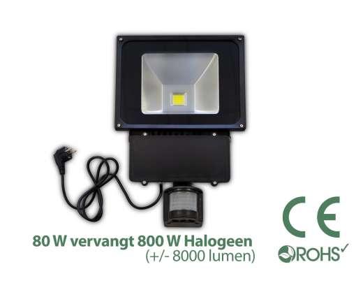 Led Bouwlamp met bewegingssensor 80 watt