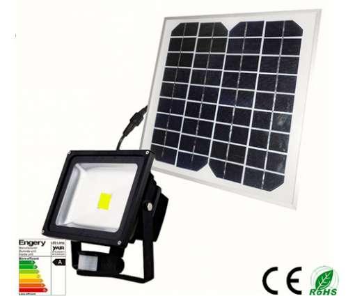 Led Bouwlamp 20 watt met solar paneel en accu