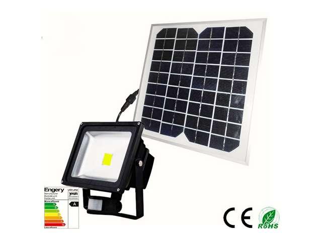 Super Led Bouwlamp 20 watt met solar paneel en accu - Light by leds KC26